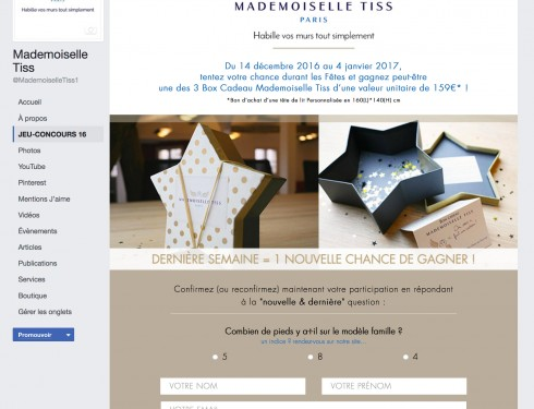 Mademoiselle Tiss – jeu-concours