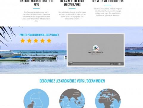 les Iles Vanille – Landing page