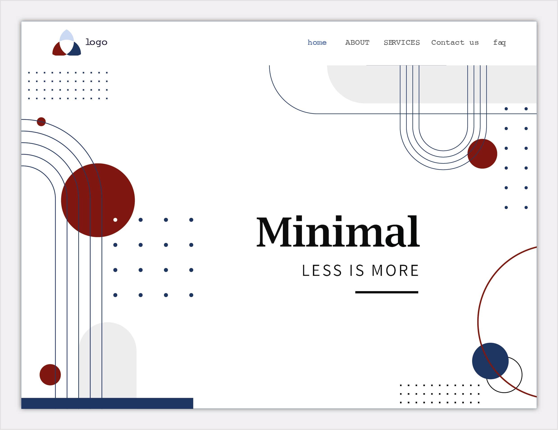tendance 2020 - Espace blanc & web design minimaliste